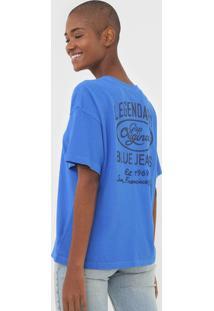 Camiseta Gap Lettering Azul - Kanui