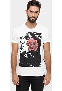 Camiseta Ellus Rosas Botonê - Masculino