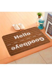 Capacho Carpet Goobaye/Hello Marrom