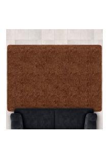 Tapete Confort Shaggy 1,40M X 2,00M Para Salas E Quartos Marrom - Bene Casa