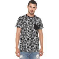 Camiseta Billabong Noise Branca Preta c3af3bc363f