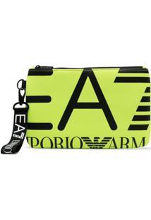Ea7 Emporio Armani Clutch Com Estampa De Logo - Verde