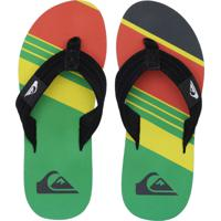 cab24db746aa8 Chinelo Quiksilver Foundation Slash Verde