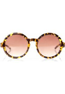 f3ab167579683 Morena Rosa. Óculos De Sol Redondo Feminino Marrom ...