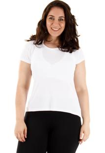Camiseta Plus Size Feminina Aiyra - Branco