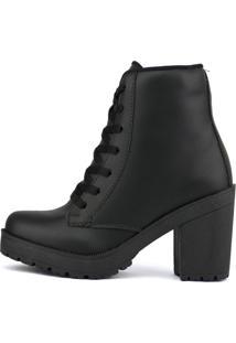 Bota Cr Shoes Em Couro Fosco Preto