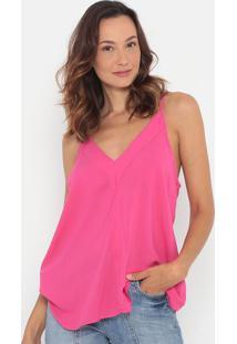 Blusa Lisa Com Recortes- Pink- Colccicolcci