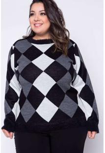 Blusa Almaria Plus Size Kalanchoe Tricot Estampada