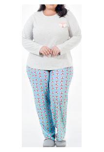 Pijama Longo Raposa Plus Size Laibel (15.011643) Algodão