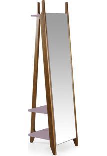 Espelho Stoka 169,5 Cm 988 Nogal/Lilás - Maxima
