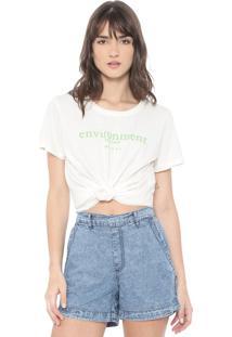 Camiseta Colcci Environment Off-White - Kanui