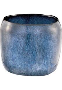 Cachepot Em Cerâmica Coleção Deep Blue