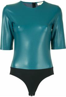 Lapointe Body Mangas Curtas - Verde
