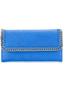 Stella Mccartney Carteira 'Falabella Flap' - Azul