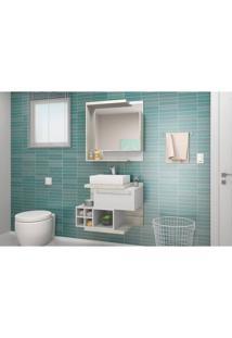 Conjunto Para Banheiro Lisboa Celta Móveis Nogal Griss / Branco