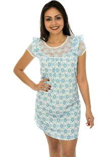 Vestido Capim Canela Amor Perfeito Azul