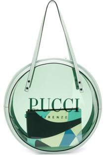 Emilio Pucci Bolsa Tote Mint Round De Vinyl - Verde