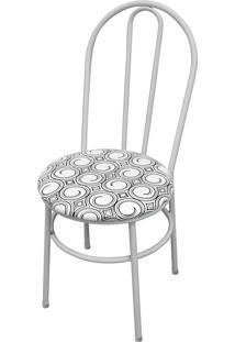 Cadeira Milla Branco/Espiral Açomix