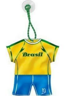 Enfeite Camisa Verde E Amarelo Com Ventosa Festaria