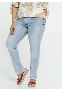 Calça Jeans Puídos Skinny Feminina Plus Size Razon