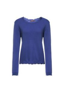 Blusa Feminina Tricot Trash - Azul