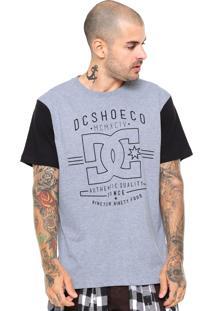 Camiseta Dc Shoes Contra Cinza