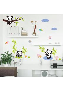 Adesivo De Parede Divanet Urso Panda Colorido