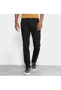 Calça Jeans Skinny Coca-Cola Masculina - Masculino-Preto