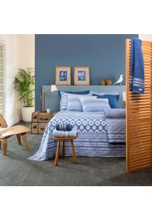 Jogo De Lençol Home Design Casal Akemi - Santista - Azul