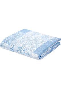 Kit De Colcha Queen Com Porta Travesseiros Andrezza Azul