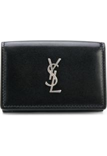 Saint Laurent Carteira Monogram - Preto