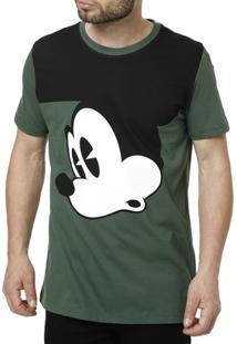Camiseta Manga Curta Masculina Disney - Masculino-Verde