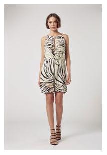 Vestido Grace Zebra Est Geo Zebra Pérola