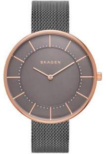 Relógio Skagen Gitte Feminino - Feminino-Bronze