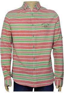 Camisa Masc Index 07.01.000043 Salmao/Verde