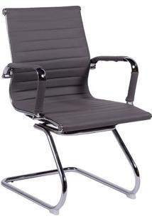 Cadeira Office Eames Esteirinha- Cinza & Prateada- 8Or Design