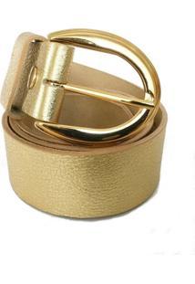 Cinto Cintos Exclusivos Liso Dourado