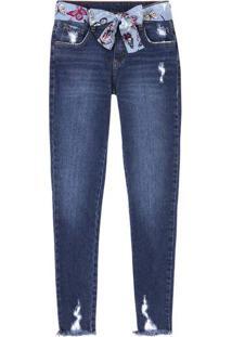 977305a32 5x R$31.99 Ir para a loja; Calça Jeans Feminina Skinny Com Cinto De Tecido