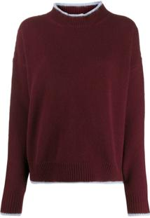 Marni Bi-Colour Crewneck Sweater - Vermelho