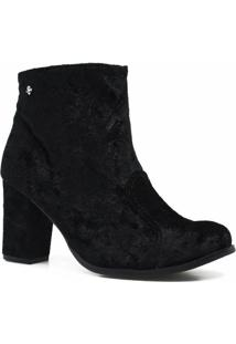 Bota Cravo E Canela Ankle Boot Ziper