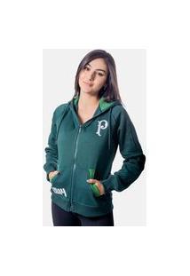 Jaqueta Moletom Palmeiras Logo Feminina