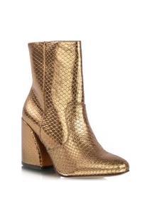 Bota Metalizada Dourada