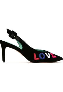 Blue Bird Shoes Scarpin Sling-Back 'Diana Love' - Preto