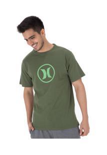 Camiseta Hurley Silk Circle Icon - Masculina - Verde Escuro