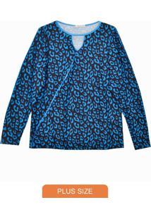 Blusa Ml Com Gota Azul
