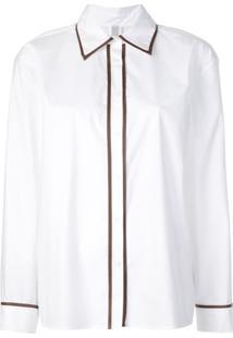 Rosie Assoulin Camisa Polo Com Contraste - Branco