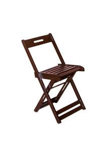 Cadeira Dobrável Madeira Avulsa Imbuia - Btb Móveis