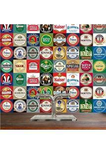 Adesivo Azulejos Rótulos De Cervejas (0,74M X 0,60M)