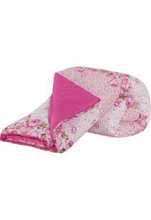 Edredom Casal Queen Lauri 01 Peça Dupla Face Estampado - Cor 06 Pink