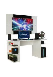 Mesa Gamer Madesa 9409 E Painel Para Tv Até 58 Polegadas Branco Branco